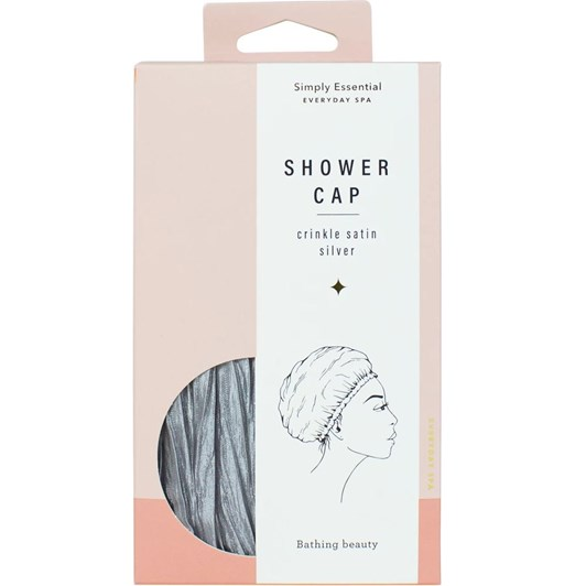 Simply Essential Crinkle Shower Cap Satin Silver
