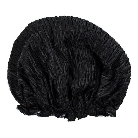Simply Essential Crinkle Shower Cap Black