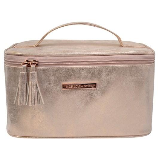 Tender Love + Carry Metallic Suede Vanity Box