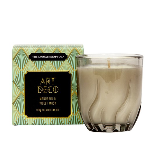 The Aromatherapy Co Art Deco Mandarin & Violet Musk Candle 100g