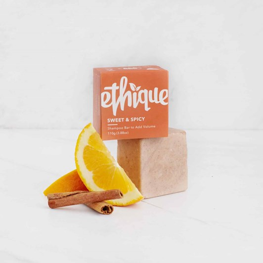 Ethique Sweet & Spicy Volumising Solid Shampoo Bar 110g