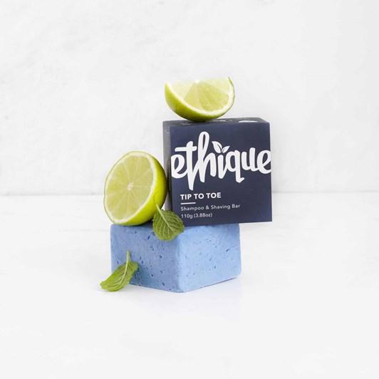 Ethique Tip-to-Toe Solid Shampoo & Shaving Bar 110g