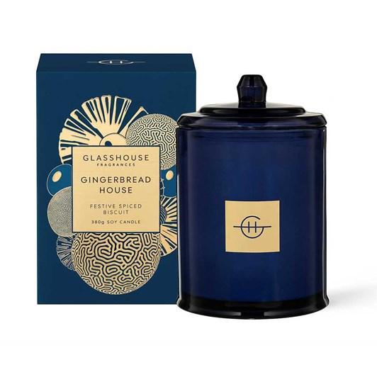 Glasshouse Fragrances 380g Candle - Gingerbread House