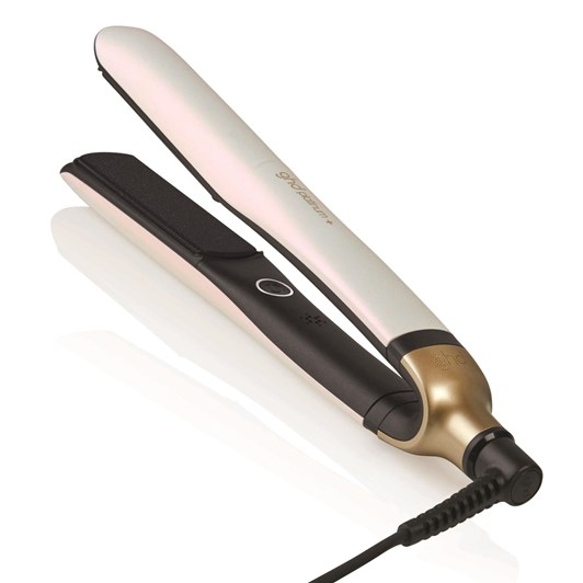 ghd platinum+ hair straightener in iridescent white by Solace Hair & Beauty