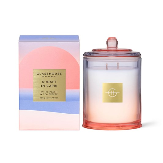Glasshouse Sunset in Capri 380g Candle