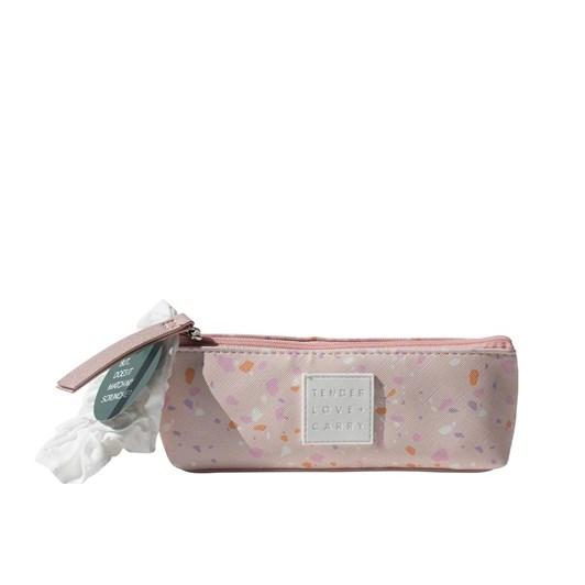 Tender Love + Carry Pink Terrazzo Makeup Case & Scrunchie