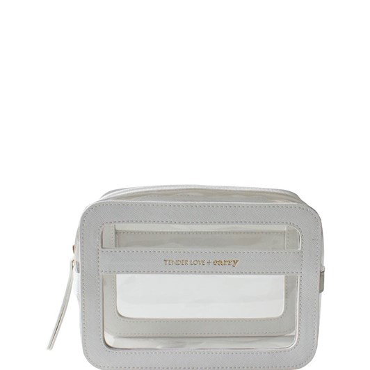 Tender Love + Carry Stay Wild Clear Carry Box - White