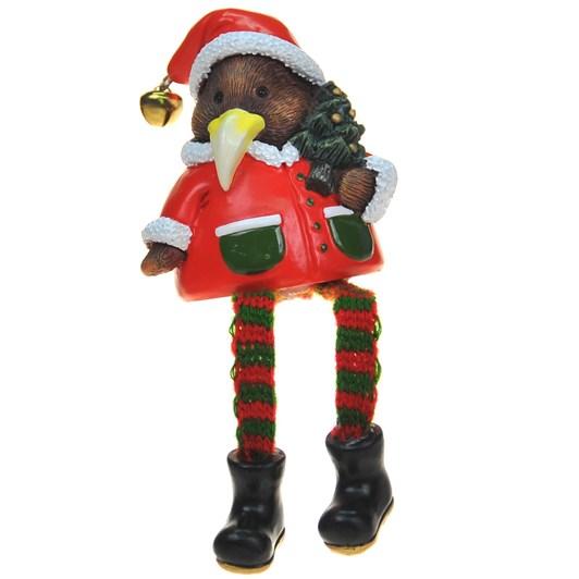 Sitting Christmas Kiwi With Tree 6cm