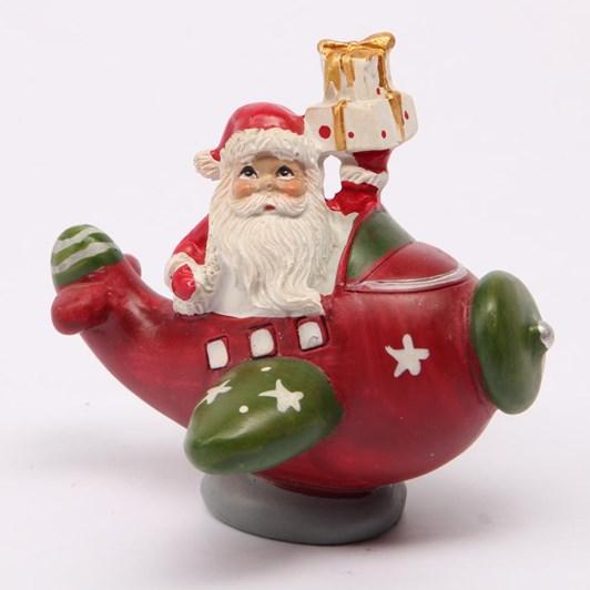 Santa in Plane Hanging