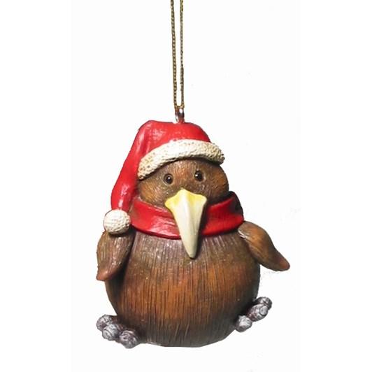 Hanging Christmas Kiwi Decoration 6cm