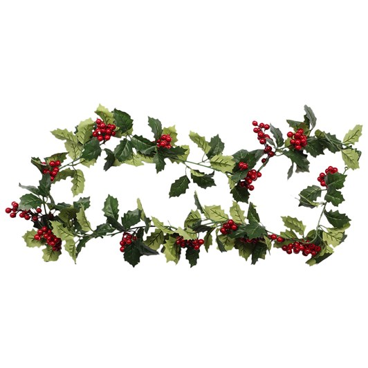 Holly Garland with Berries