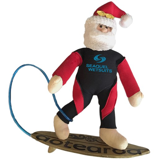 Surfer Santa Decoration