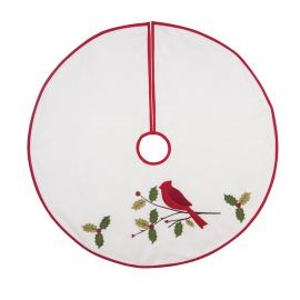 C&F Cardinal With Holly Tree Skirt