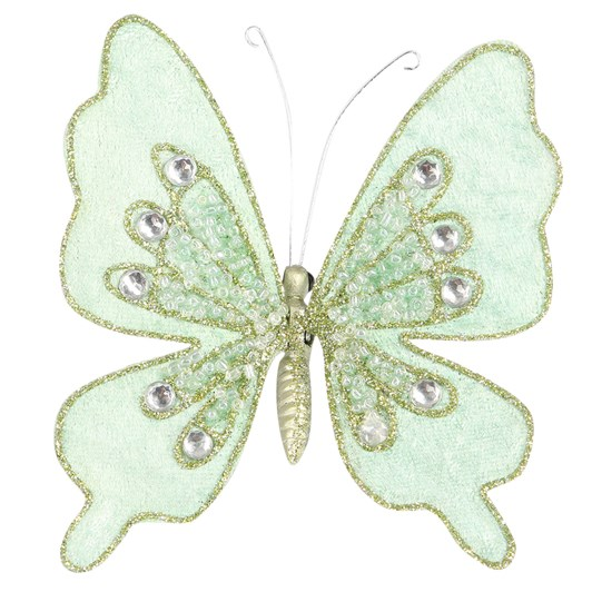 Jewelled Butterfly with Clip