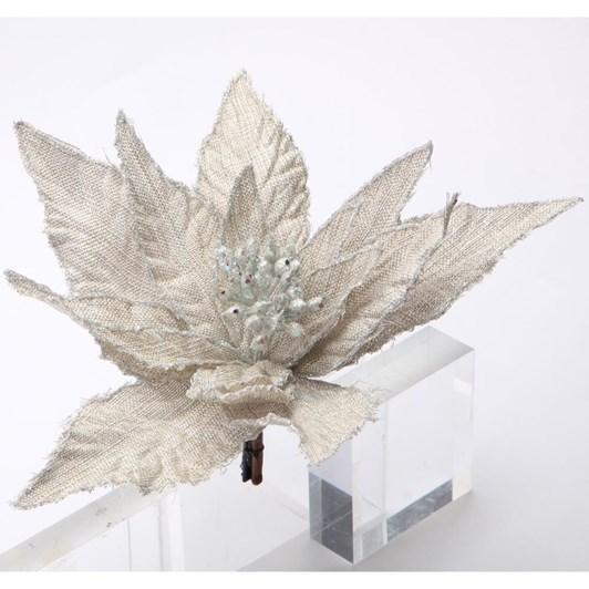 Stella Poinsettia with Clip Linen