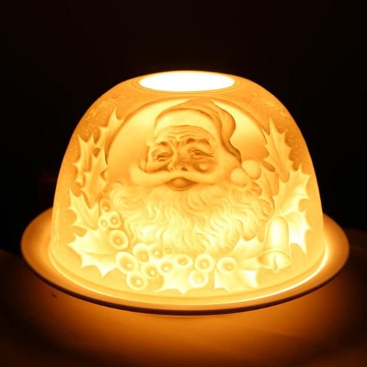 Hellmann Starlight Santa With Holly