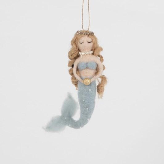 Sass & Belle Golden Pearl Mermaid Felt Hanging Decoration