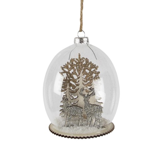 Sass & Belle Stag & Forest Scene Bauble