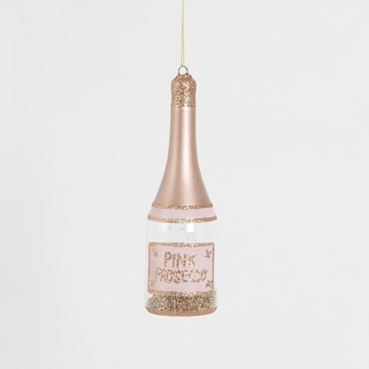 Sass & Belle Lets Celebrate Pink Prosecco Hanging Decoration