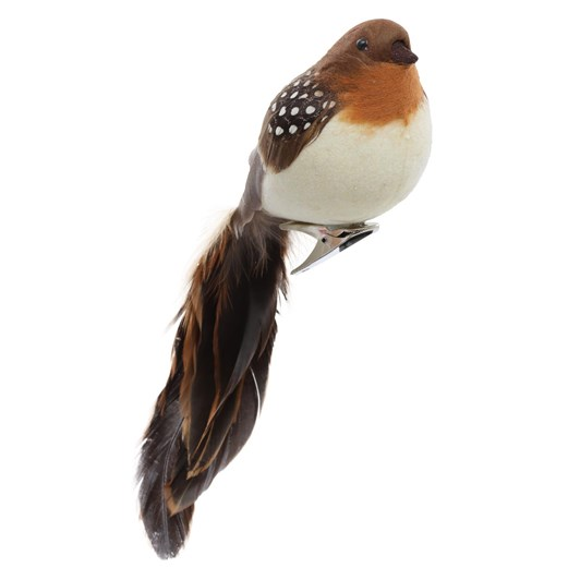 Fat Robin With Clip Natural