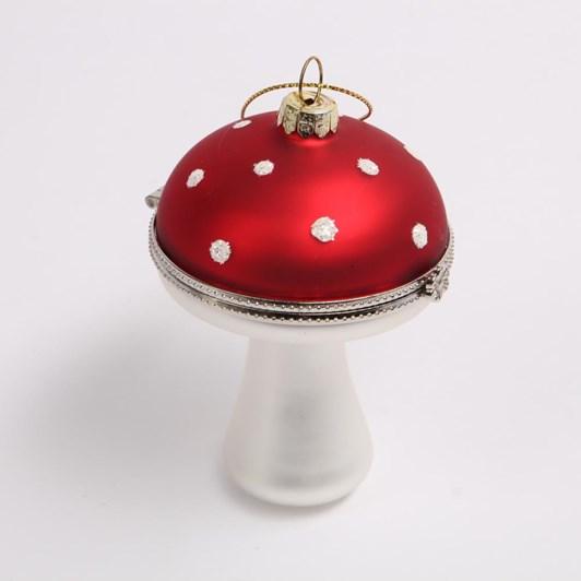 Glass Mushroom With Hinged Top