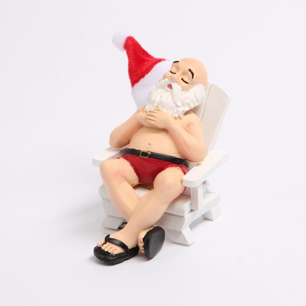 Santa On Beach Chair -