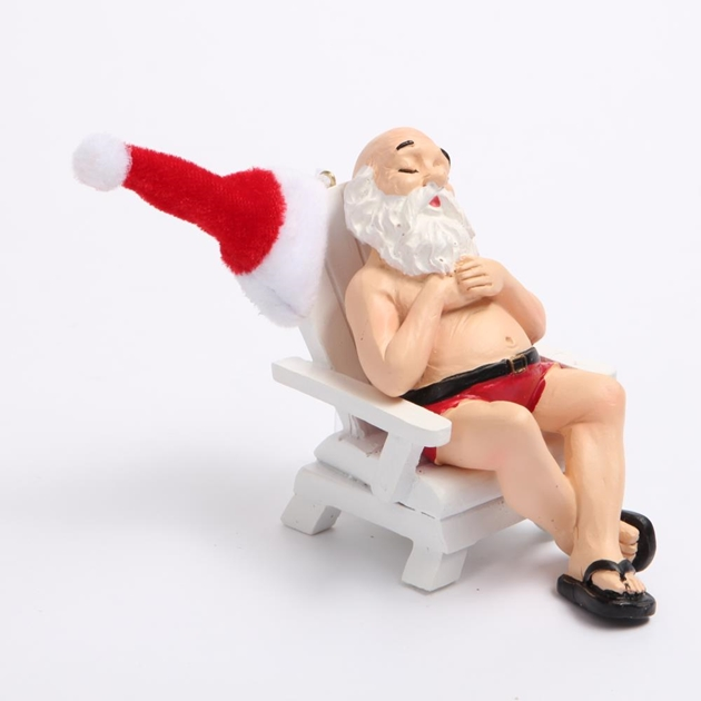 Santa On Beach Chair - mr santa