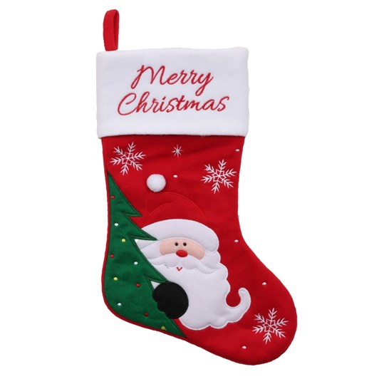 Stocking With Santa/Reindeer