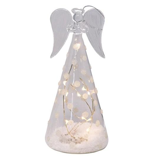 Stellar Haus Medium Cone-Shaped Glass Angel With Spots 15cm