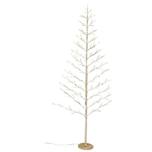 Stellar Haus Medium Flat Champagne Warm White Standing Tree 120cm