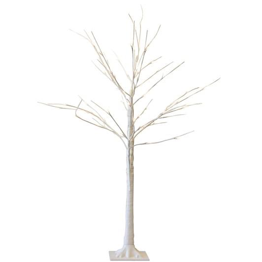 Stellar Haus Medium Flat White Warm White Standing Tree 120cm