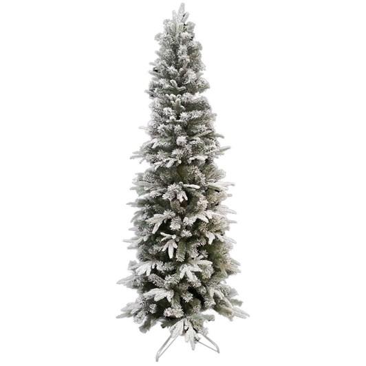 Christmas Tree Snowy Slim 7 Foot