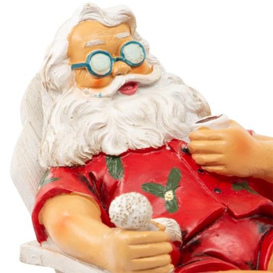 Santa Sitting In Beach Chair 14cm
