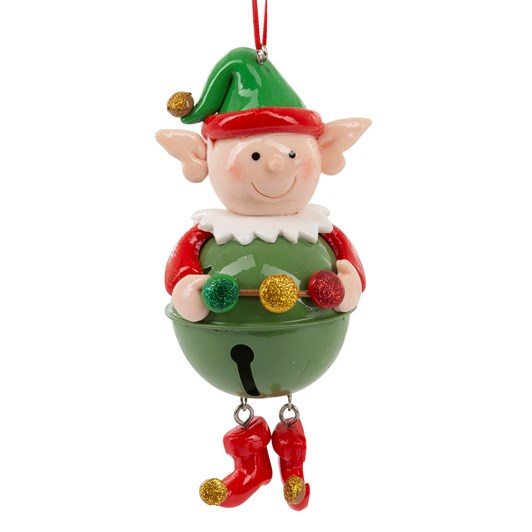 Hanging Elf With Bell 12cm