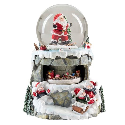Santa Claus Snow Globe With Music