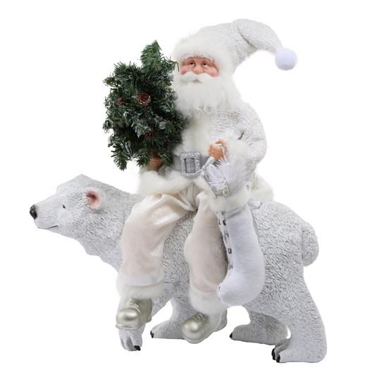 White Santa On Bear