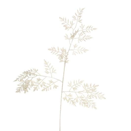Gisela Graham Irid Glitter Mini Leaf Branch