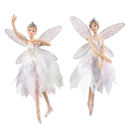 Gisela Graham Sheer Irid Dress/Resin Fairy Decoration