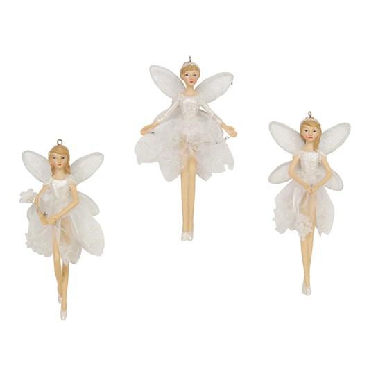 Gisela Graham Sheer Irid Dress/Resin Fairy, Small