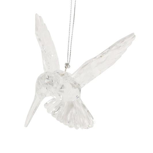 Gisela Graham Clear Acrylic Hummingbird Dec - 11Cm