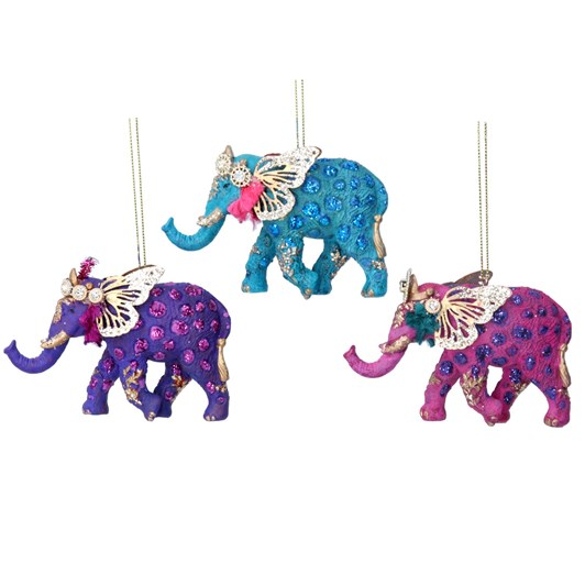 Gisela Graham Fantasy Elephant Resin/Metal Decoration