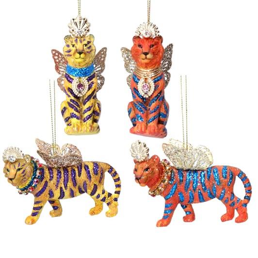 Gisela Graham Fantasy Tiger Resin/Metal Decoration
