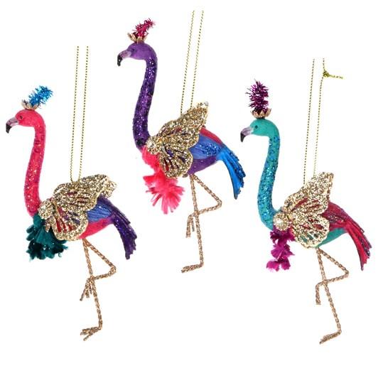 Gisela Graham Fantasy Flamingo Resin/Metal Decoration