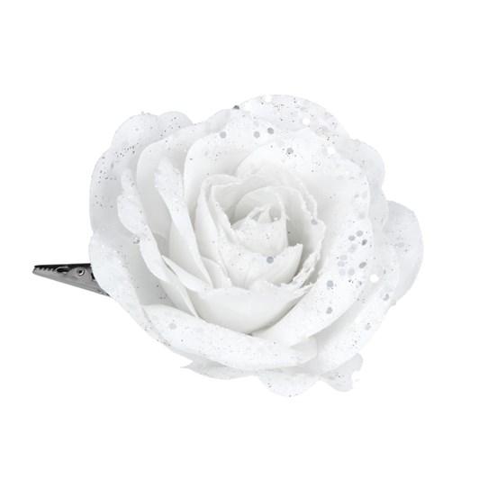 Gisela Graham White Fabric Tea Rose Clip