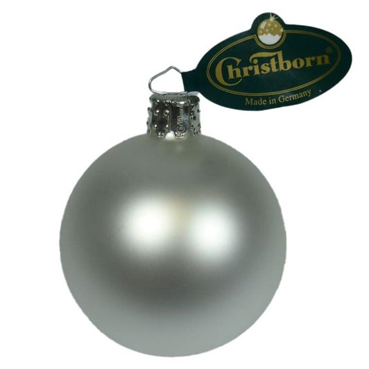 Christborn 8 Cm Ball, White Matt - Uni