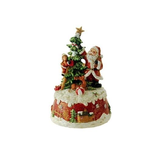 MusicBoxWorld Santa Decorating Christmas Tree