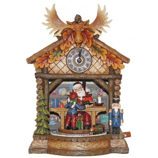 MusicBoxWorld Cuckoo Clock with a Large Moose Antler