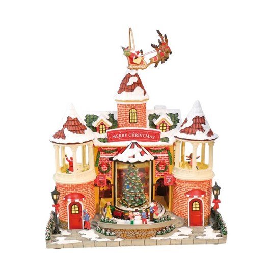 MusicBoxWorld House with Reindeer
