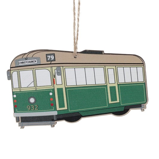 Christchurch Trams Hanging Decoration Green