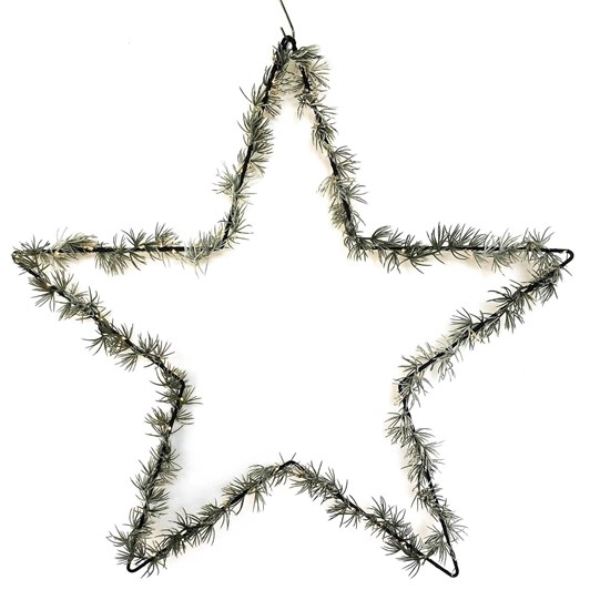 Star With Foliage LED Hanging Green 80cm